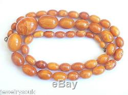 Antique Vintage Natural Baltic Amber Beaded Necklace