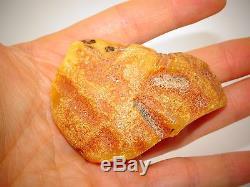 Antique Vintage Natural Baltic Egg Yolk Butterscotch Amber 36.9 Grams