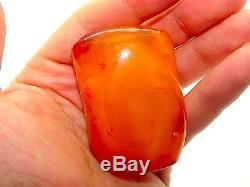 Antique Vintage Natural Baltic Egg Yolk Butterscotch Amber 43.8 Grams