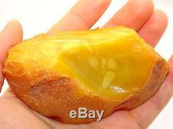 Antique Vintage Natural Baltic Egg Yolk Butterscotch Amber 78.3 Grams