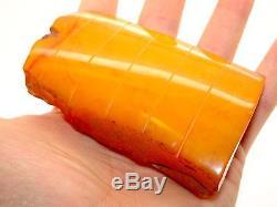 Antique Vintage Natural Baltic Egg Yolk Butterscotch Amber 89 Grams