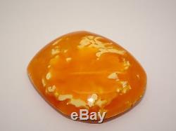 Antique Vintage Natural Baltic Egg Yolk Butterscotch Amber Unique