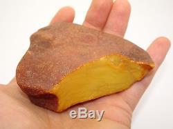 Antique Vintage Natural Egg Yolk Butterscotch Baltic Amber 82.6 Grams Unique
