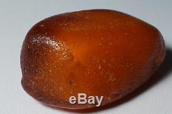 Antique natural Baltic amber rare drop stone 9 grams. NO IMPORT CUSTOMS TAX