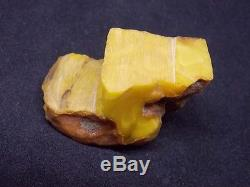 Antique natural amber stone toffee egg yolk Baltic amber big 31g