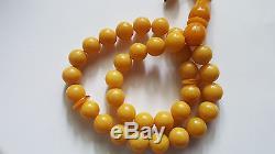 Antique natural baltic amber eggyolk rosary prayer