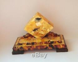 Antique photo frame Natural Genuine Baltic amber Made in Kaliningrad 1960s