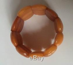Art Deco Schmuck 24g Natur Bernstein Armband Baltic Amber Bracelet Butterscotch
