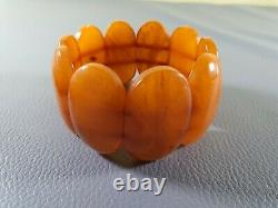 Authentic Antique Natural Baltic Amber Butterscotch Egg Yolk Beads Necklace