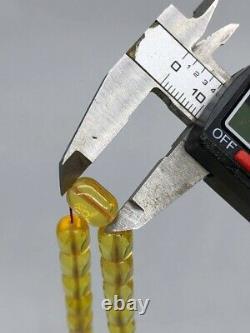 BALTIC AMBER ROSARY 29,7g CAPSULE misbah tesbih 66 prayer beads 100% NATURAL