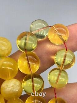 BALTIC AMBER ROSARY 64,6g CAPSULE misbah tesbih 45 prayer beads 100% NATURAL