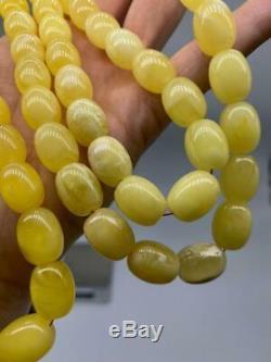 BALTIC AMBER ROSARY 97g CAPSULE misbah tesbih 66 prayer beads 100% NATURAL