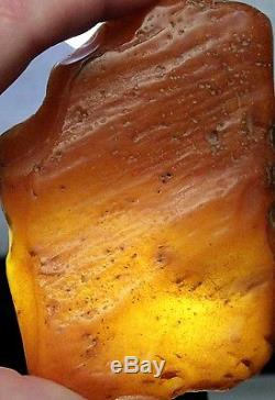 Beautiful Natural Old Butterscotch Egg Yolk Baltic Amber Stone 156 Grams #st-31
