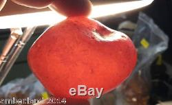 BEST SHAPE! NATURAL BALTIC AMBER STONE 33 gr for necklace beads/ pendant