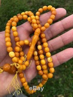 Baltic Amber Natural Prayer Beads Tesbih Misbaha Kehribar Islamic Rosary
