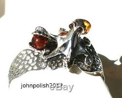 Baltic Amber Octopus Bangle with Silver 925