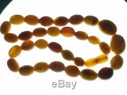 Baltic Amber StoneS Natural Buterchyt rare color NECKLACE 42,30 gram. 1 PC