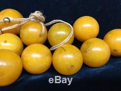 Baltic Natural Amber Round Beads Butterscotch Egg Yolk Stunning 55 grams (rf211)