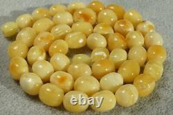 Baltic Natural Marble White Baltic Amber Necklace 21 G Fedex Fast 4-5 Days Ship