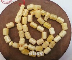 Baltic amber rosary, White amber stone rosaries, Amber beads, Natural amber