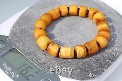 Baltic old amber natural bracelet 16 grams, fashion amber yellow color bracelet