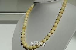 Baltic states royal white natural amber necklace 24 grams, Free, NO customs tax