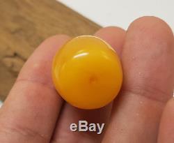 Barrel Stone Nr188 Vintage Tasbih Bead Natural Amber Baltic Genuine Old 9,2g