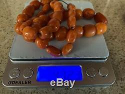 Beautiful Antique Butterscotch Baltic German Natural Amber Beads Kahraman 48g