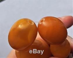 Beautiful Antique Natural Butterscotch Egg Yolk Baltic Amber Beads Necklace 72.8