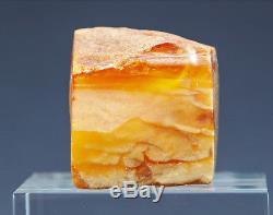 Beautiful Antique Natural Genuine Butterscotch Egg Yolk Baltic Amber Stone
