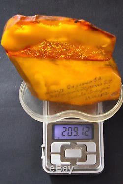 Beautiful Vintage Souvenir from Natural Baltic Amber Butterscotch Honey Color