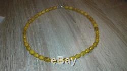 Bernsteinkette Oliven Kette 100% Natur Baltic Amber 28 gramm