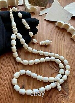 Big 59g. Prehistoric th us Misbaha Islamic Prayer Rosary Beads CERTIFIED