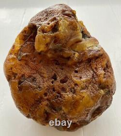 Big Natural Baltic Amber Raw Stone 494g. Poland Honey Kahrab Bernstein Kehribar