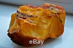 Big Raw Amber Stone rock 220 g pendant 100% natural Baltic kahrab kahrman misbah