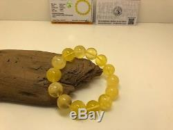 Bracelet Baltic Amber Natural Stone Nr4 Exlusive 31,1g Egg Yolk White Rare