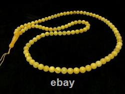 EGG YOLK HIGH QUALITY Islamic 99 Prayer Beads Natural Baltic Amber 28,6g 7713