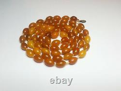 Egg Yolk Butterscotch Olive Natural Baltic Amber Necklace Bernstein