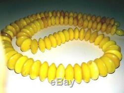 Egg Yolk Button Beads NATURAL BALTIC AMBER necklace