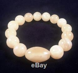 Elegant Genuine Baltic Natural 18,33gr Amber Egg Yolk Beads Bracelet