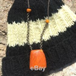 Exceptional XL Antique Natural Butterscotch Egg Yolk Baltic Amber Beads Necklace