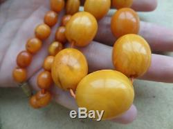 Genuine Baltic Amber Old Pendant necklace bead Rare Round natural vintage 41 g