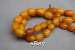 Genuine Baltic Butterscotch Egg Yolk Amber Graduated Beads Necklace 34g