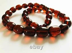Genuine Cherry Amber Beautiful Baltic Amber Necklace 64grams pressed amber