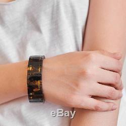 Genuine Natural Baltic Amber Bracelet Polished Exclusive Quality Luxury Elegant