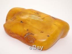 HUGE Antique Natural Baltic Egg Yolk Butterscotch Amber 387 Grams
