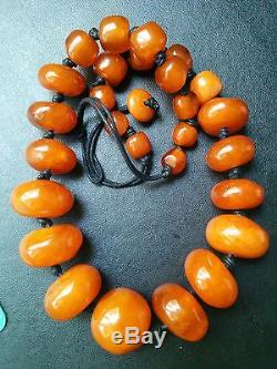 HUGE NATURAL BALTIC AMBER 187Gram Graduated Polished Necklace RARE R202
