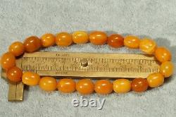 High Class Antique Amber Baltic Natural Very Old Men Women Bracelet 9 Grams