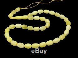 High Quality Islamic 33 Prayer Beads Natural Baltic Amber Tasbih White 19g 10551
