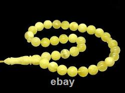 High Quality Islamic 33 Prayer Beads Round Natural Baltic Amber Tasbih 17g 9717